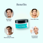 Arata Natural Clay Face Masque With Activated Charcoal ,kaolin & Brazilian Blue Clay For Women & Men (100 Gm)